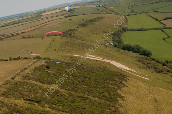 paragliding over the white horse
