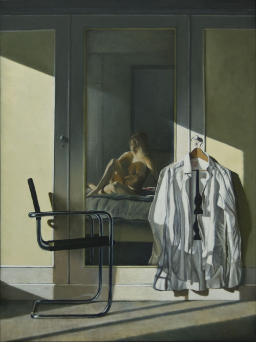A Time of Confidences (2009, oil on canvas, 101 x 76 cms)