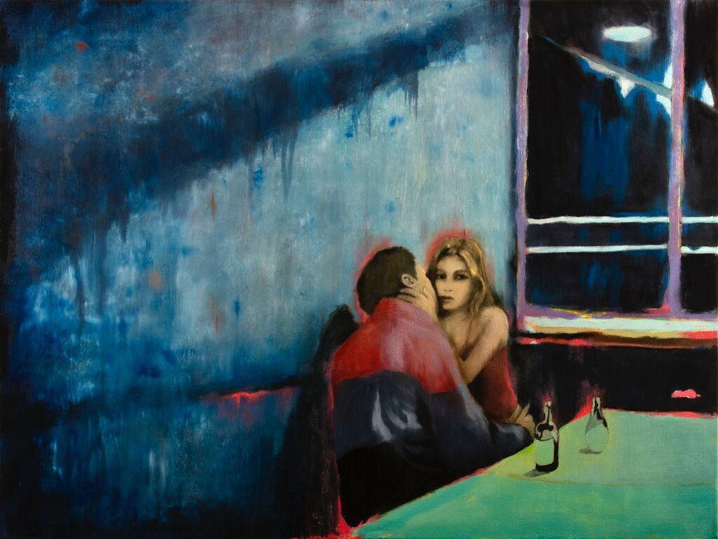 'In So Deep', 80 x 60 cm, oil on canvas.