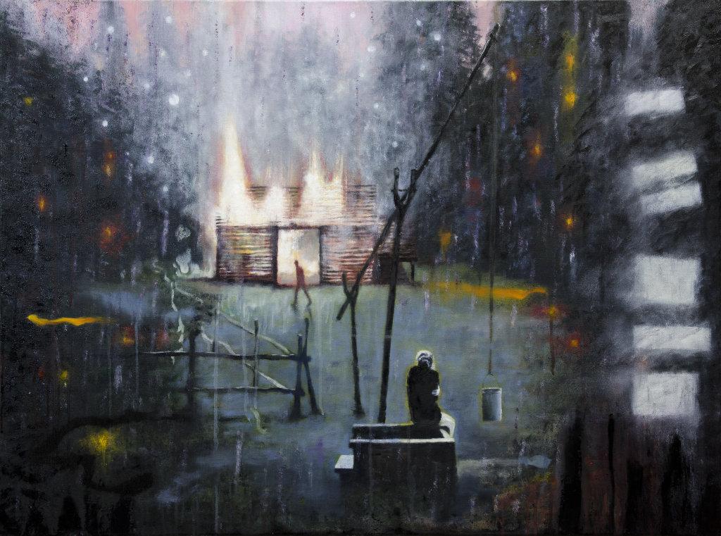 'Valediction', 102 x 75cm, oil on canvas,  £975