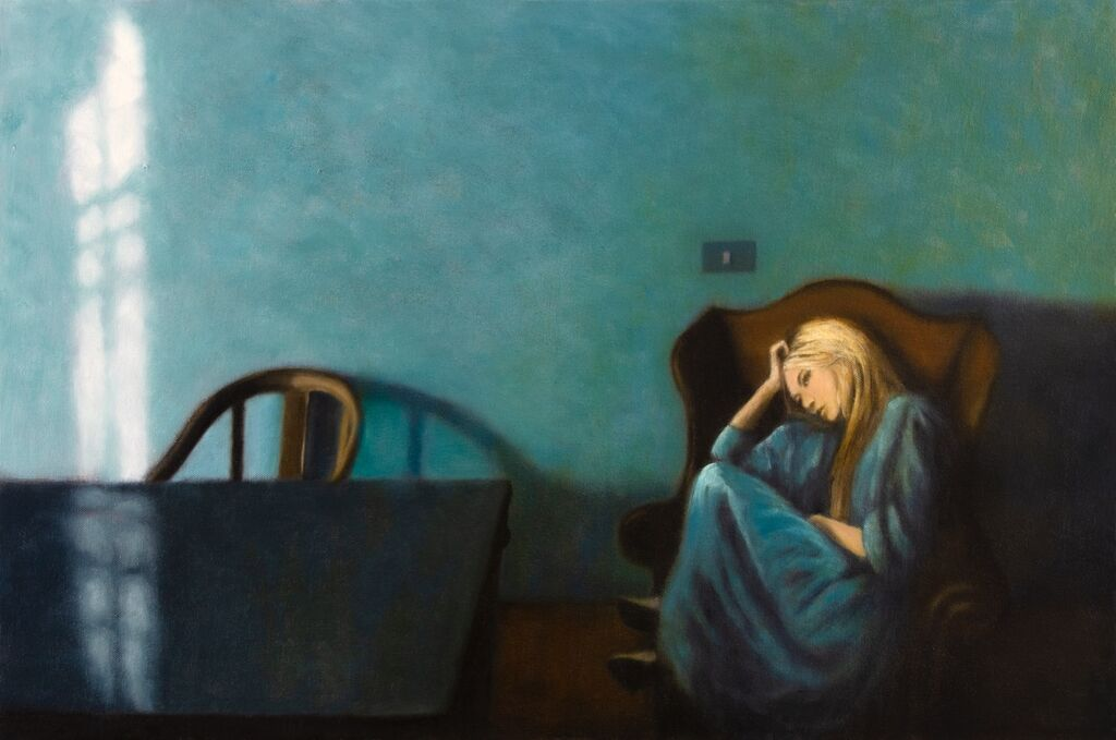 'I Couldn't Stay To Say Goodbye', 50 x 75 cm, oil on canvas