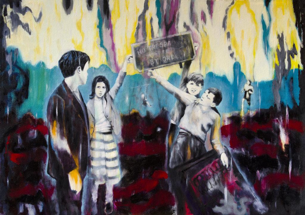 'Delapsus Resurgam', 54 x 76 cm, oil on panel