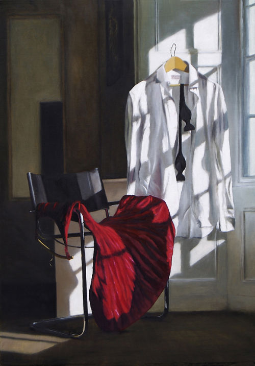 Dress Code: Black Tie (2008, oil on canvas, 70 x 50 cms)
