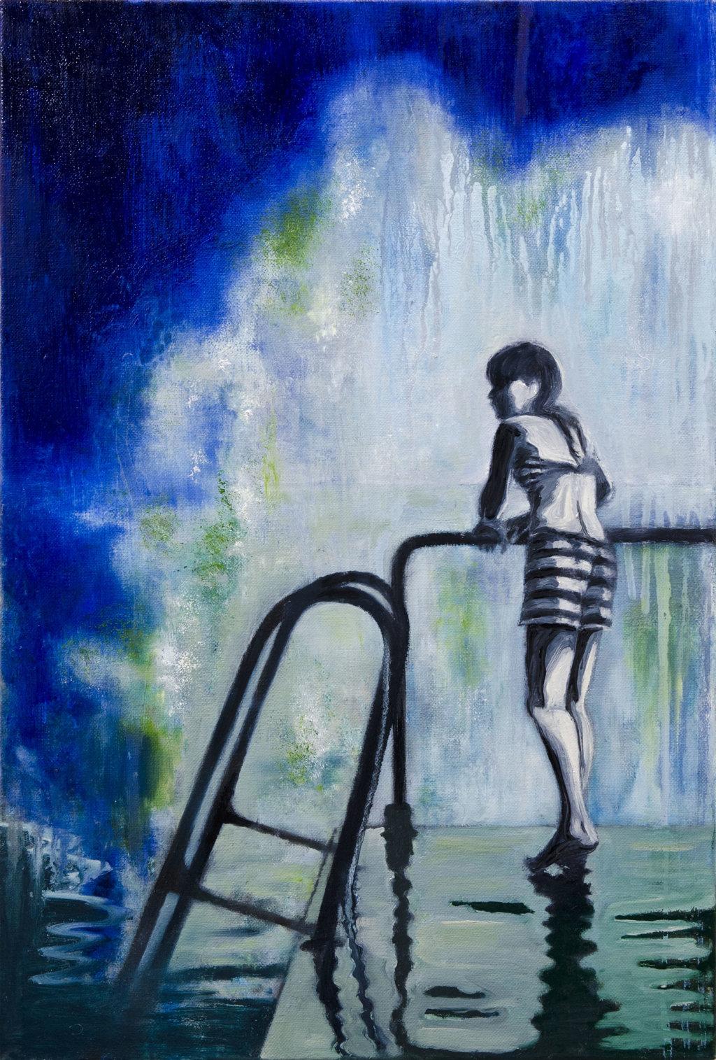 'The Edge of the Sea', 60 x 40 cm, oil on canvas