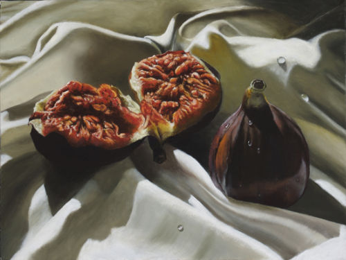 Figs on Silk (2007, oil on canvas, 40 x 30 cms)