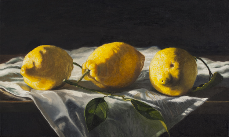 Lemons From Amalfi II (33 x 55 cms, oil on canvas)