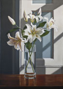 Lilies In The Morning Sun (II)  (70 x 50 cms, oil on canvas, 2012)