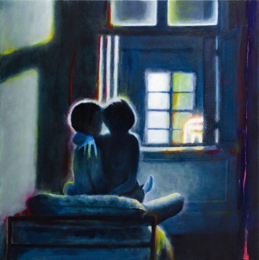 'Neon', 50 x 50 cm, oil on canvas.