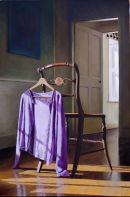 The Purple Cardigan  (2008, oil on canvas, 76 x 51 cms)