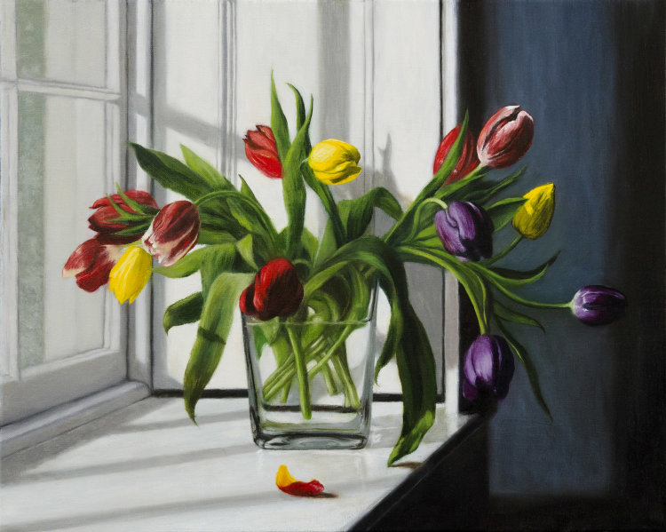 Red, Yellow and Purple Tulips (II)