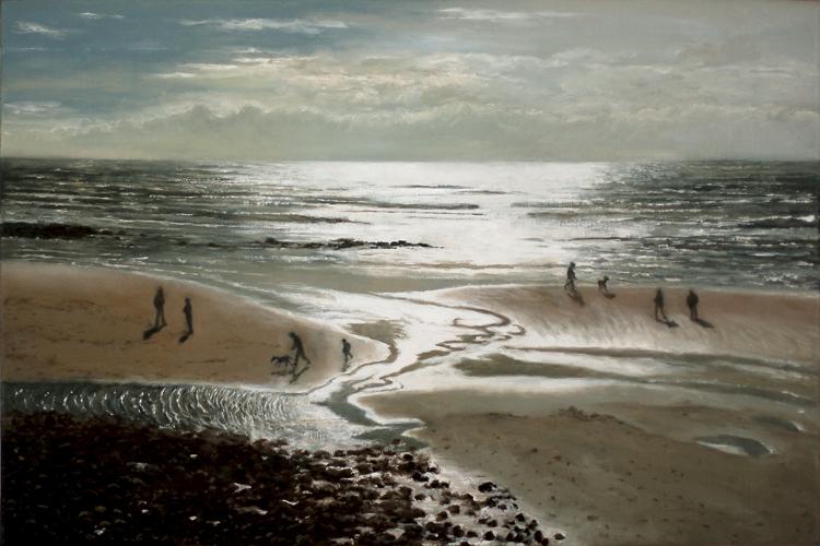 'Where The Sea Meets The Sky II'  (40 x 60 cms, oil on canvas)