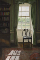 A Seat By The Window  (60 x 40 cms, oil on canvas)