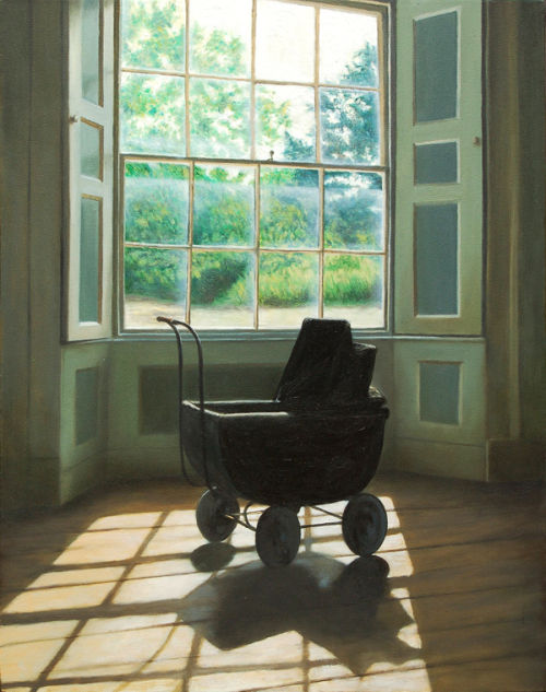 The Old Doll's Pram (2009, oil on canvas, 51 x 40 cms)