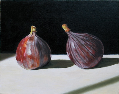 Two Whole Figs (2006, oil on canvas, 51 x 40 cms)