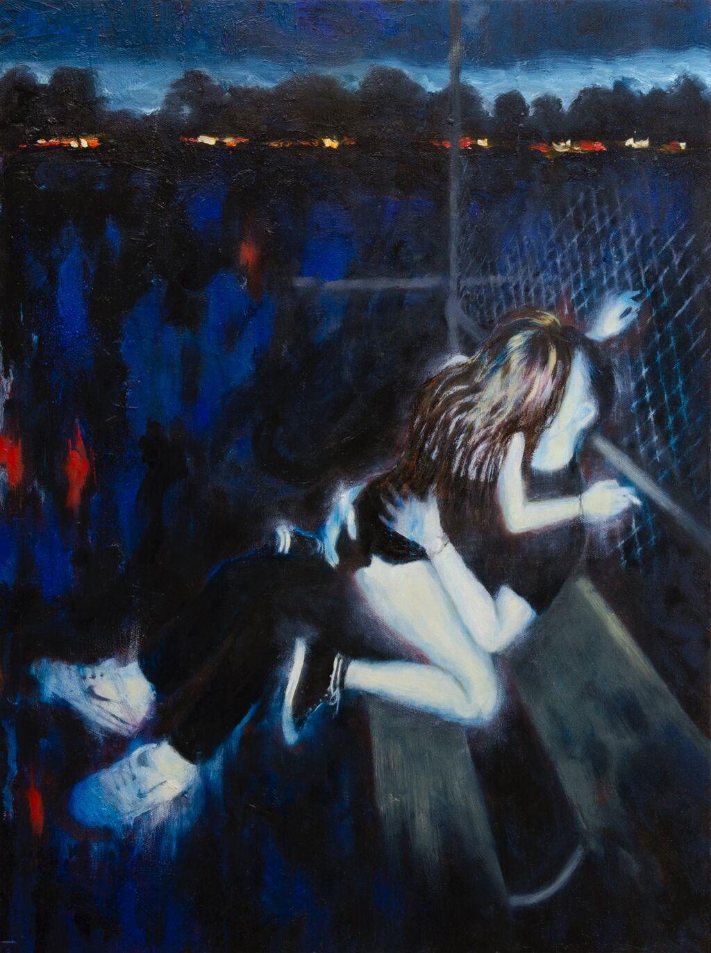 'Flux', 46 x 61 cm, oil on canvas