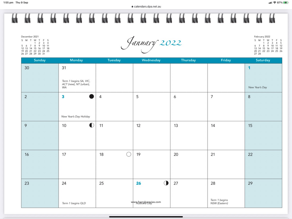 2022 Calendar - Here's to a better year