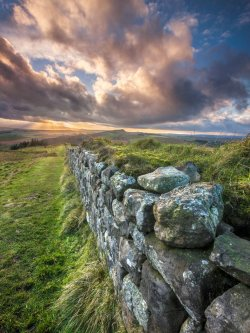 Hadrians Wall Sunset