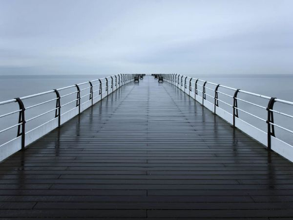 Raining on the pier