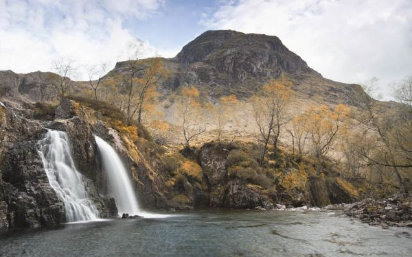 Autumn Waterfall in Scotland