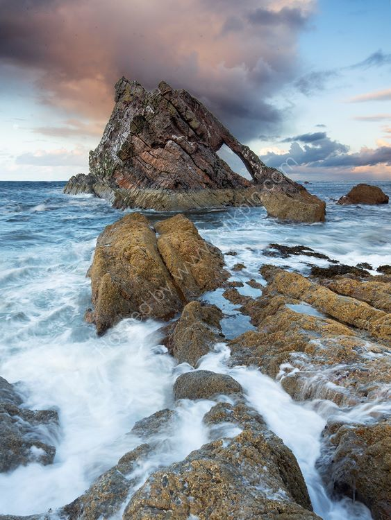 Storm over Bow Fiddle Rock