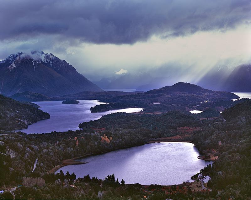 View from Cerro Campanario toward Nahuel Haupi National Park