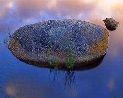 Granite boulder, Tidal River