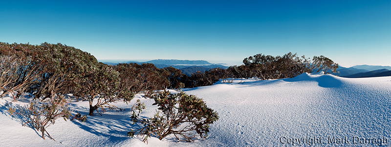 Mt Buffalo and the Ovens Valley from Little Mt Feathertop