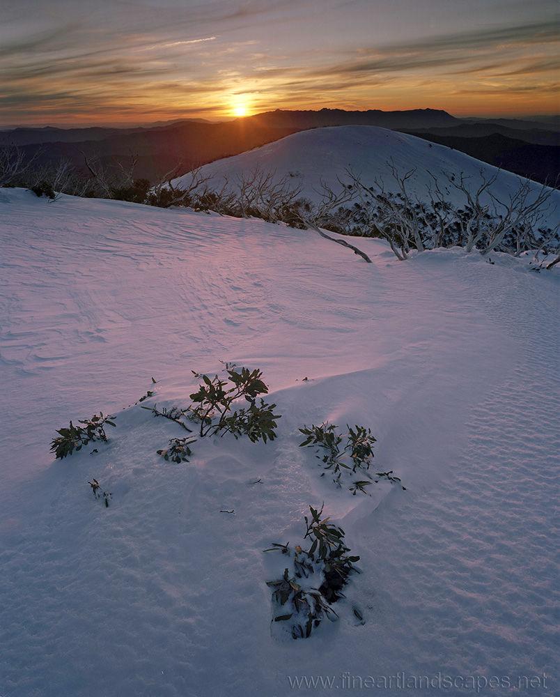 Sun setting, The Razorback
