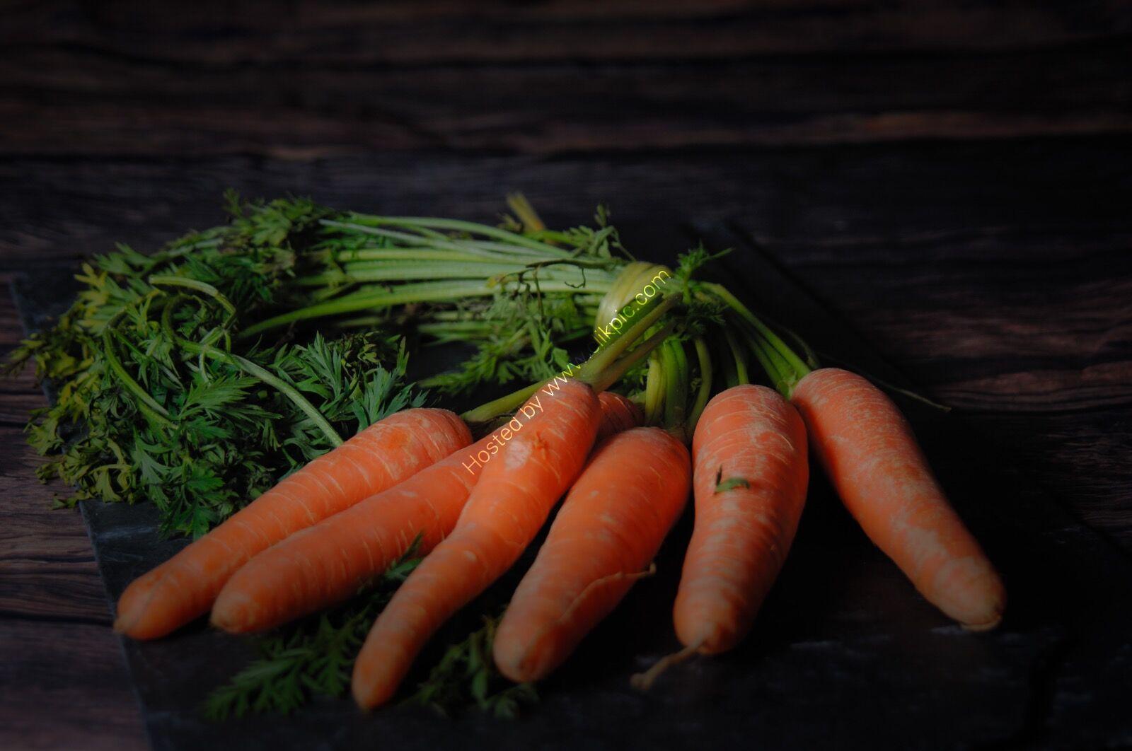 Carrots on a slate