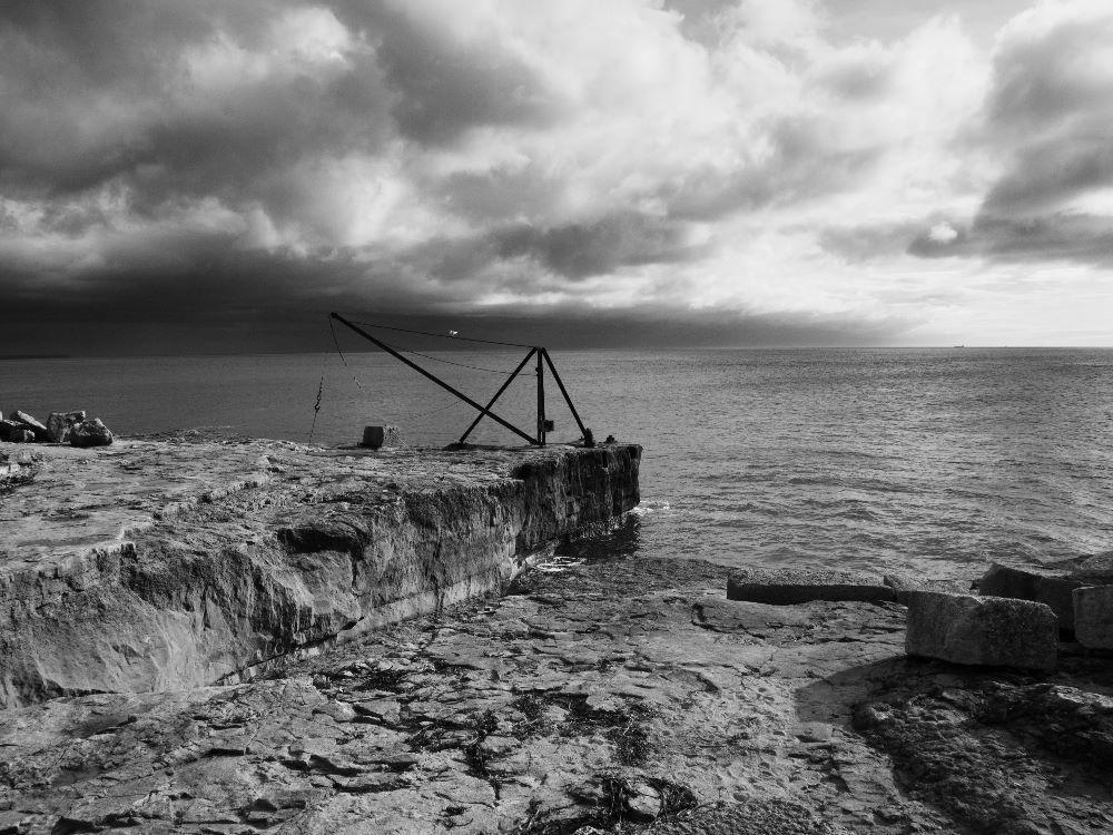 Abandoned Quarry bw