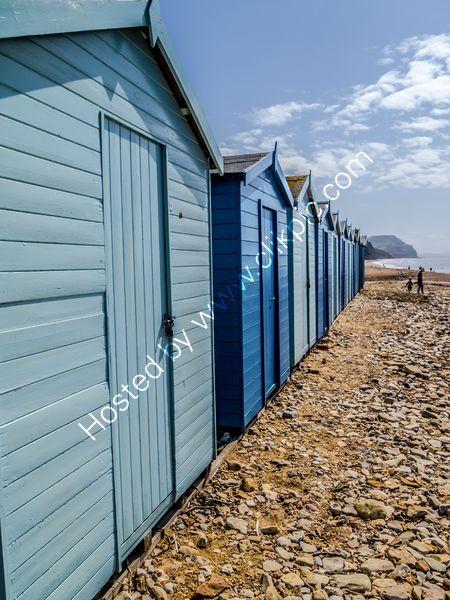 Blue beach huts 2