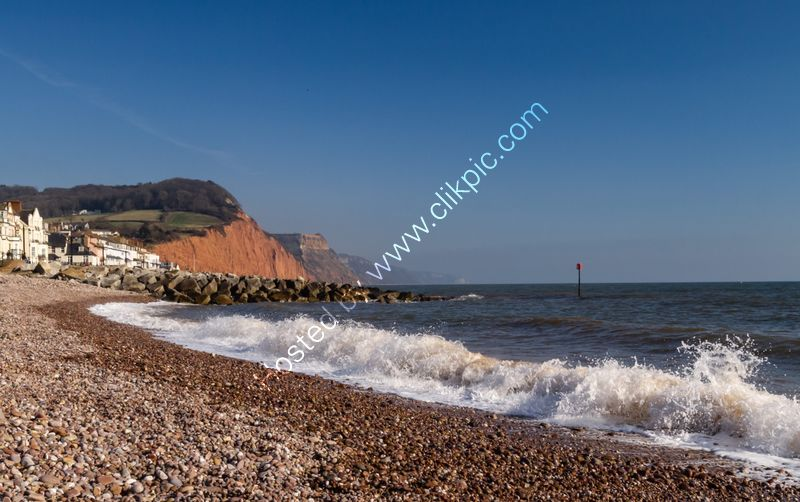 Frozen sea at Sidmouth