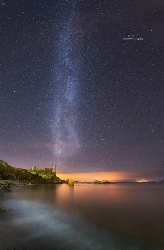 Milky Way over Dunure Castle, Ayrshire Coast