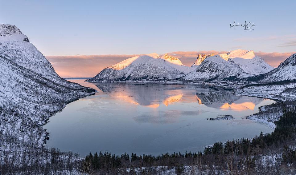 Bergsbotn sunrise, Senja, Arctic Norway