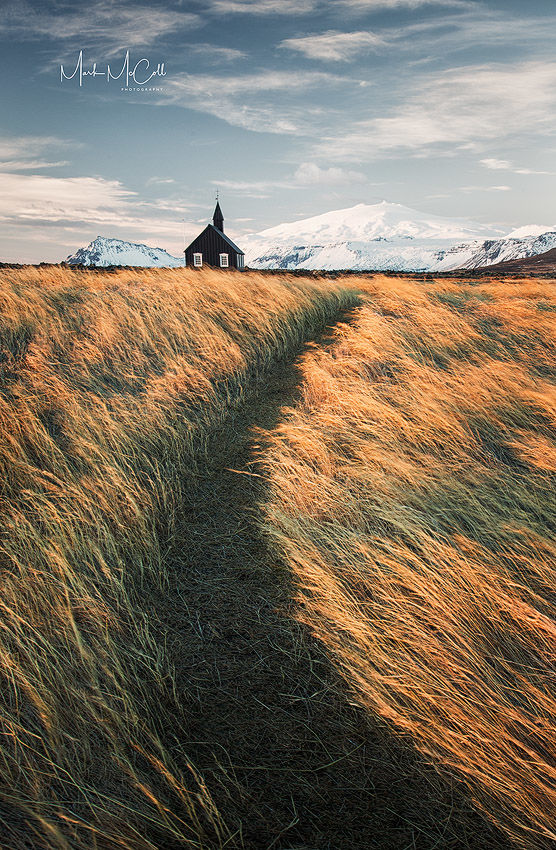 Path to Budir church, Budir, Iceland