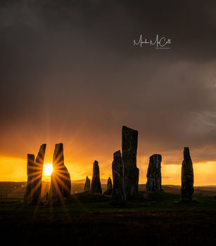 Standing stones at dawn, Callanais, Isle of Lewis