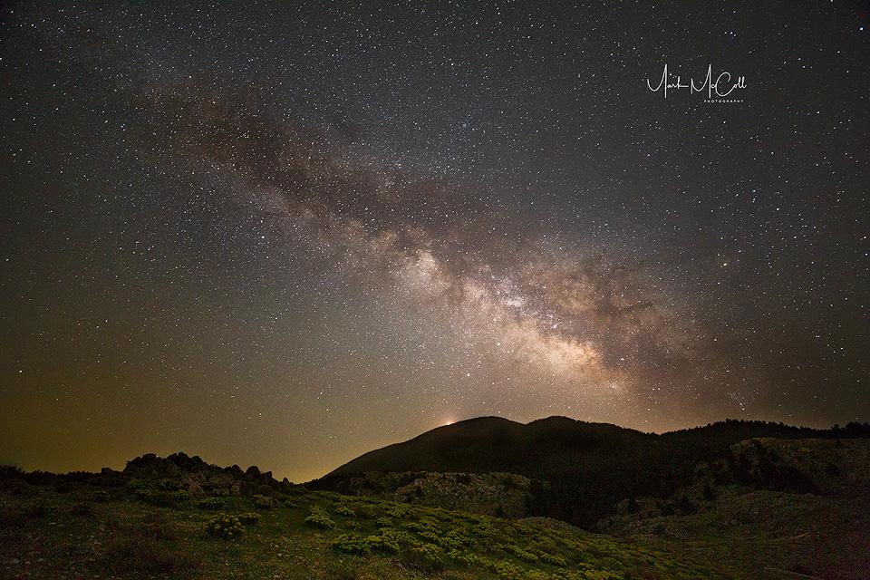 Milky Way, Cephalonia, Greek islands