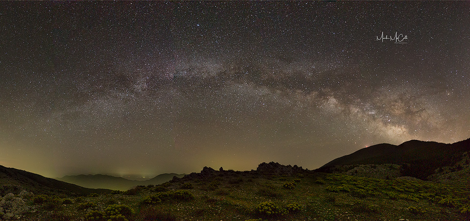 Milky Way panoramic, Cephalonia, Greece