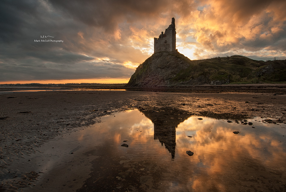Dawn at Greenan Castle, Ayrshire