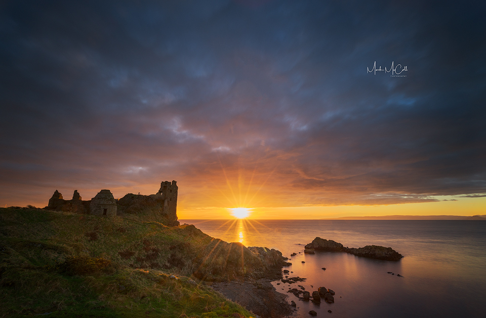 Sunset at Dunure Castle, Ayrshire, Scotland