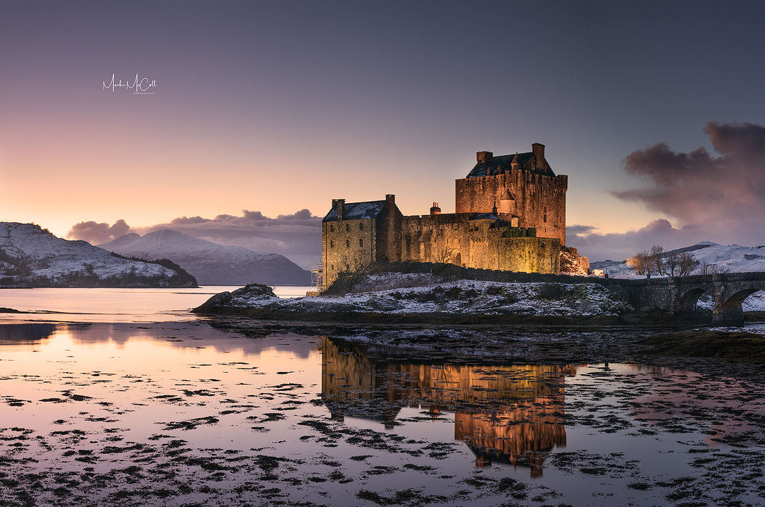 Eileen Donan Castle, Sunset, Highlands, Scotland