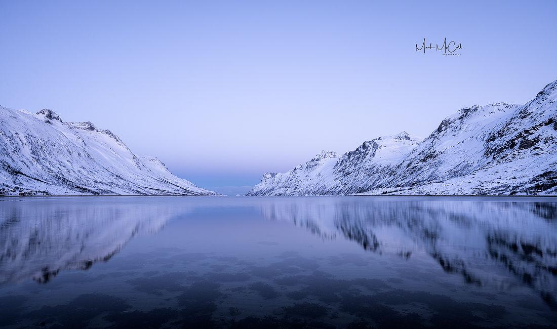 Esfjordbotn dawn, Tromso, arctic Norway