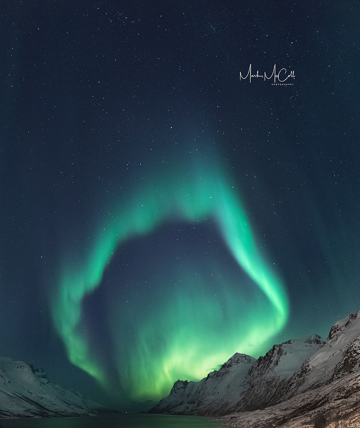 Aurora rings, Arctic Norway