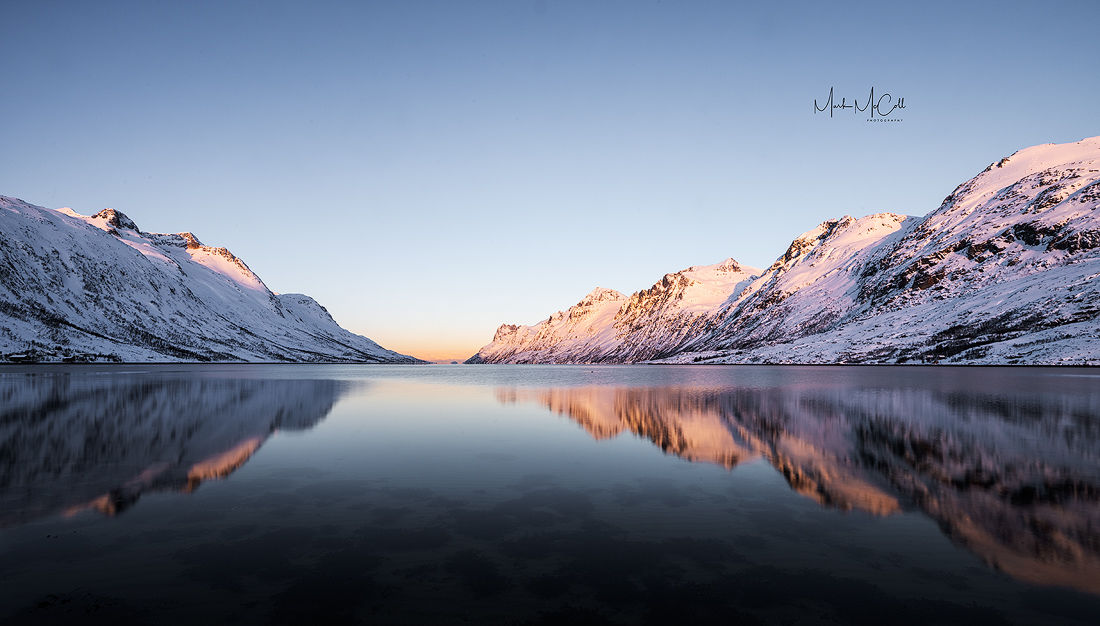 First light, Esfjordbotn, Arctic Norway