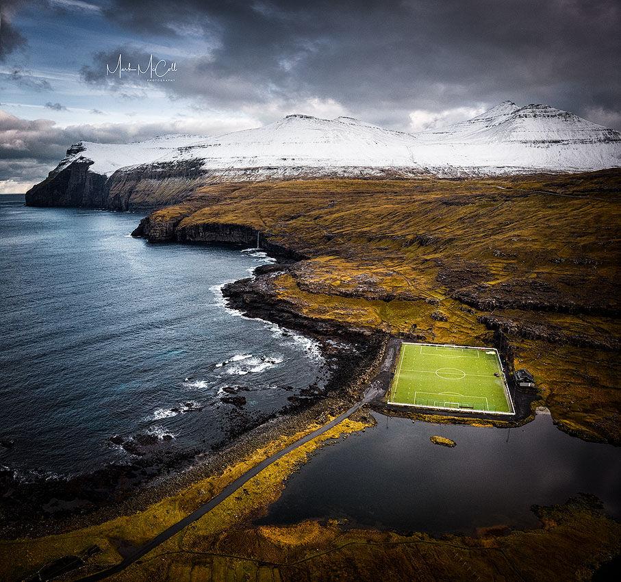 Faroes football pitch, Faroe islands