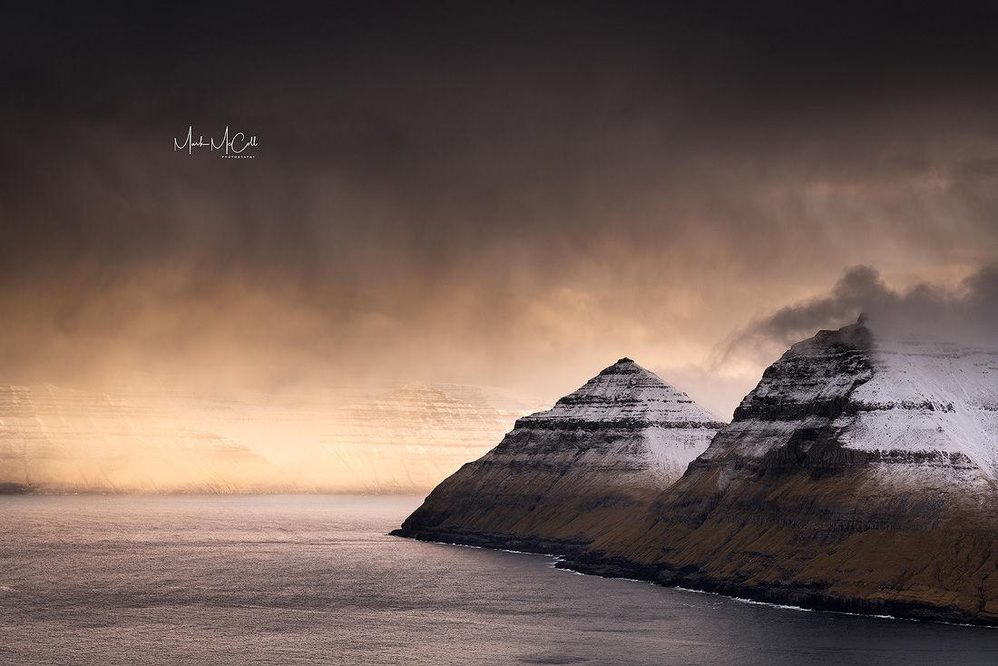 Approaching snowstorm, Faroe Islands