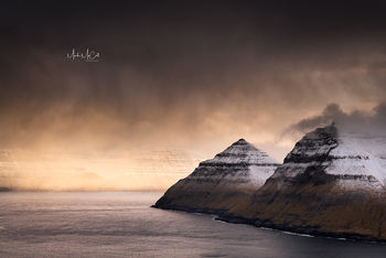 Approaching snowstorm, Faroe Islands