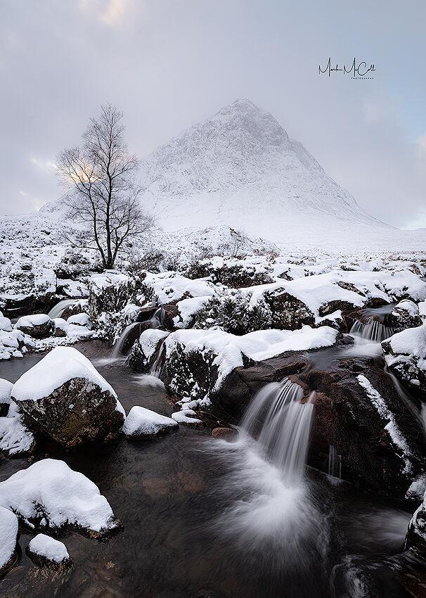 Winter in Glen Etive, Scotland