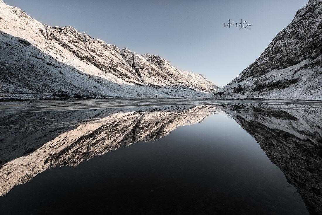 Mirror image, Loch Achtriochtan, Glencoe, Scotland