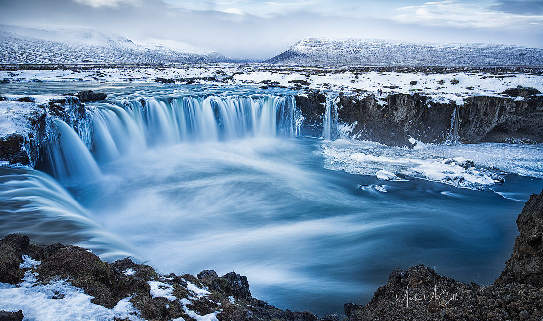 Godafoss in winter, Northern Iceland